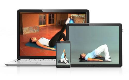 Cours pour soulager dos sur tablette, Internet et DVD